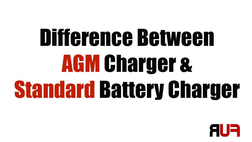 agm charger vs standard battery charging
